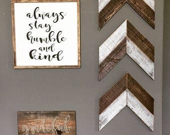 Wooden Chevron Arrows. Wooden Arrows. Farmhouse. Farmhouse Decor. Wall Decor