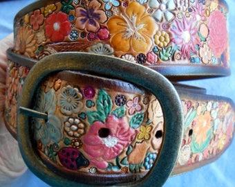 Flower Garden Belt Made in GA USA