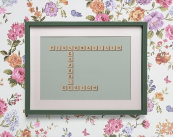 Personalised Scrabble Print - scrabble tile names, weddings, couples, families, anniversary