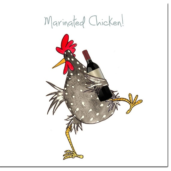 Hen Night Greeting Card Funny Chicken Card Barnyard Dancing