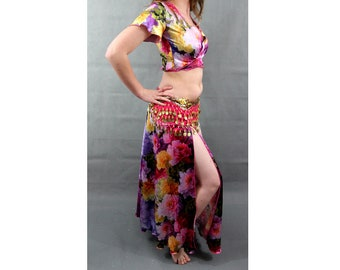 Belly Dance Costume Flowers