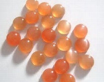 10 pieces  peach moonstone round cabochon calibrated stone