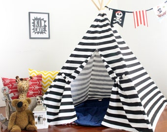 Teepee Play Tent, Two Sizes, Ready to Ship, Can Include Window, Tee Pee, Childrens Teepee, Kids Tee Pee Tent, Playhouse