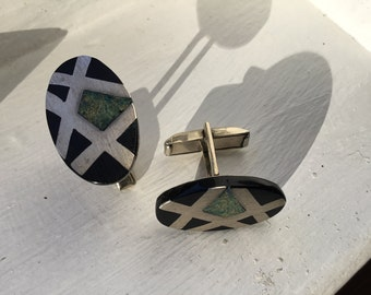 Vintage sterling silver Mexican cuff links