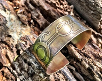 Crop Circles Brass Cuff