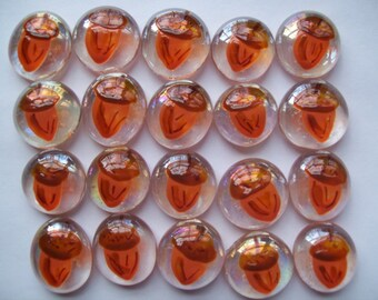 Hand painted glass gems party favors  Thanksgiving  ACORNS  FALL  ACORN