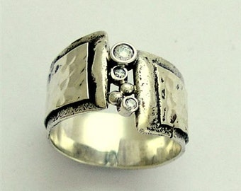 Mothers day birthstones ring, Silver ring, unisex silver band, gemstones band, birthstones ring, mens and womens ring - Back with you R1675