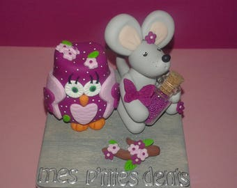 To order!  beautiful box has teeth OWL and mouse