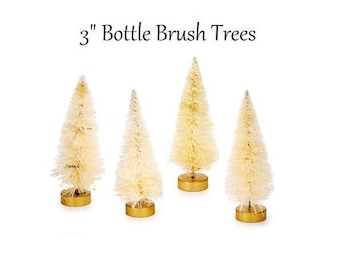 Miniature Bottle Brush Trees, Fairy Garden, Miniatures, Sisal Trees