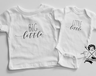 big little little little, sibling set, matching outfits, kids clothes, pregnancy announcement, baby announcement, sibling tees