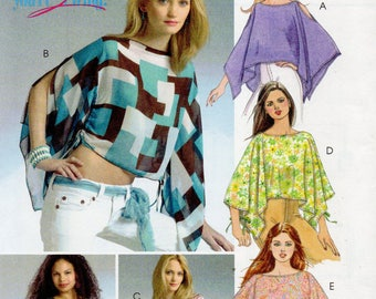 McCall's Pattern 4874 Midriff Baring PONCHOS & TOPS Misses XS Small Med
