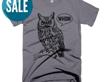 CLEARANCE Unique Teacher Gifts for Her Funny Grammar Shirt Who Whom Owl Grammatical T Grammar Shirts for Women Christmas Gifts for Teachers