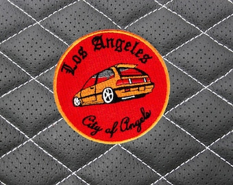 """Vintage 90's Style Los Angeles """"City of Angels"""" Import Low Rider Jdm Street Racer Car Racing Shirt Patch Badge 9cm Applique"""