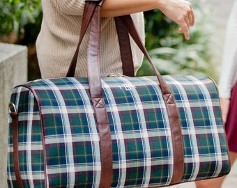 Duffle bag Avery Plaid Duffle Bag Monogram Duffle bag Plaid Duffle Personalized Duffle bag Duffle bag travel Duffle bag Gifts for her