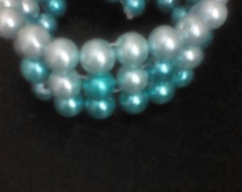 Three tier blue bracelet