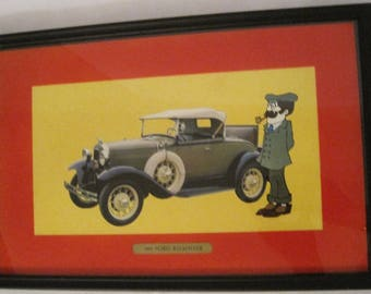 Vintage 1931 Ford Roadster Unique Framed Picture, Ford Roadster Photo, Vintage Ford