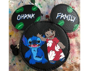 Lilo and Stitch Mickey Mouse shaped coin purse
