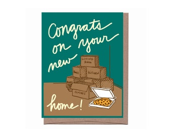 Boxes & Pizza Card