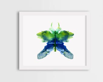 Watercolor butterfly painting, colorful butterfly art, blue butterfly print, butterfly illustration