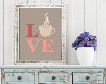 Wall art quotes - Coffee Love