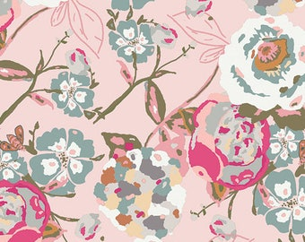 1/2 yard Knit fabric in Garden Rocket Bachelorette from bachelorette fusions from Art Gallery Fabric, designed by Bari J
