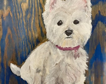 Custom Pet Portrait, Dog Portrait, Oil Painting