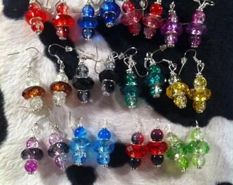 European Bead Earrings - Pick Your Color