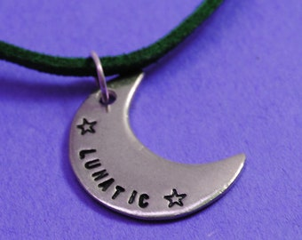 Lunatic - Pewter Crescent Moon Necklace