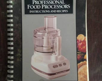 KITCHEN AID Ultra Power & Professional Food Processors.  Instructions Recipes