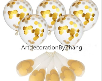 12inch Gold paper Balloons /  Birthday Balloon Bouquet Kit Balloon Set Giant Birthday Bouquet Kit Balloon Set Baby ShowerBaby Shower