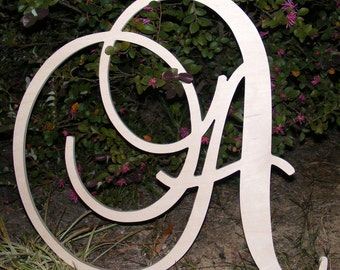 "12"" Large  Wooden Wall Letters - Monogram Letters- Wedding Decor Letters"