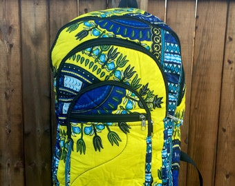 Yellow Dashiki back pack