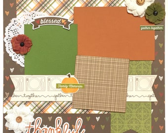 Thankful 1 Page Scrapbook Page Kit