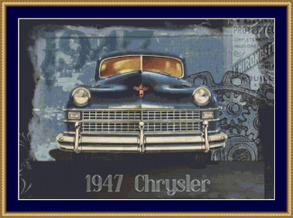1947 Chrysler Cross Stitch Pattern /Digital PDF Files /Instant downloadable