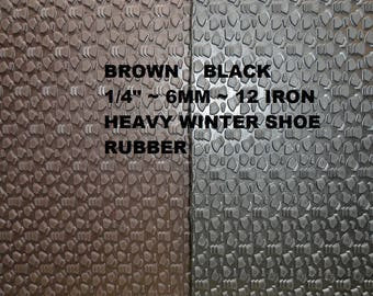 Shoe Rubber, Shoe Making Supplies, 6 mm Sole Tech Rubber, Shoe Sole Rubber, Winter Soling Sheet, Outdoor Shoe Supplies