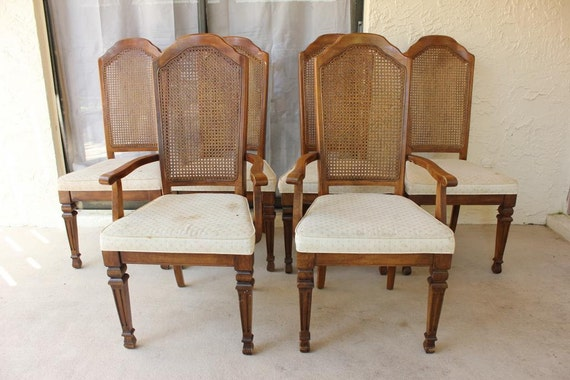 - Items Similar To Vintage Stanley Furniture Cane Back Chair Set On Etsy