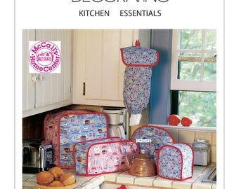 McCalls Sewing Pattern 2018, Kitchen Appliance Covers, Cafe Curtains, Seat Cushions, Pot Holder, New Uncut Pattern