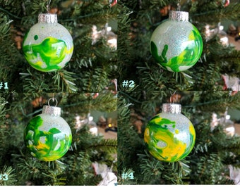 Hand Crafted Christmas Tree Ornament (Green and Yellow)