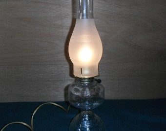 Glass Hurricane Lamp