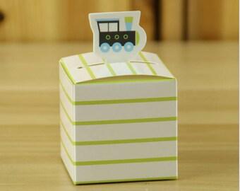 50pcs,100pcs Locomotive candy box  Candy Box Treat Boxes  Birthday Boxes  Party Boxes Birthday Party Gift Box Favor Boxes -Wedding Favor
