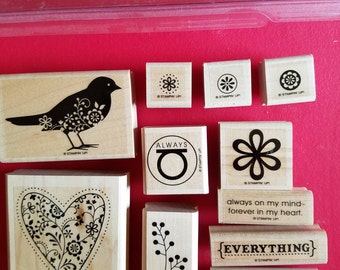 """Retired, Used, Stampin' Up Stamp Set called """"Always"""""""