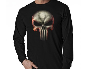 Punisher Long Sleeve Black T-Shirt B (Ready to ship)