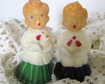 Vintage Gurley Christmas Choir Boy Candles Carolers