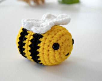 Easter Gift for Kids, Crochet Bee, Bee Plush, Toddler Toy, Crochet Bumblebee, Bee Baby Shower, Toys for Toddlers, Baby Shower Gift