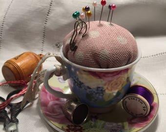 Small teacup Pincushion