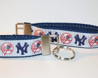 New York YANKEES Baseball Team Key Fob Rings in Mini and 9""