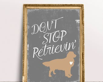 Golden Retriever Print, Dog Lover Gift, Retriever Dog, Golden Retriever Art