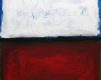 """Red Modern Abstract Painting, Free Shipping, Acrylic, 31.5""""x 31.5"""" inches (80x80cm) Landscape, Original Painting, Carlos Pun Art"""