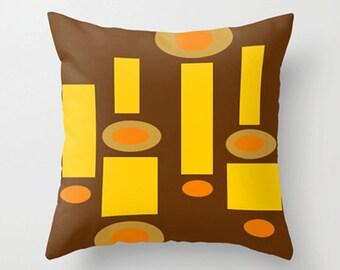 Modern  Pillow Cover, Retro Throw Pillow Cover, Mid Century Throw Pillow Cover, Cool Pillow Cover, Decorative Pillow Cover