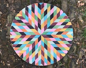 Circular Patchwork Barn Quilt
